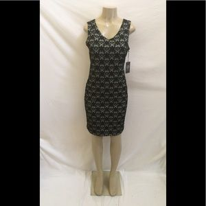 NWT Vince Camuto Sz Small Rich Black Floral Dress